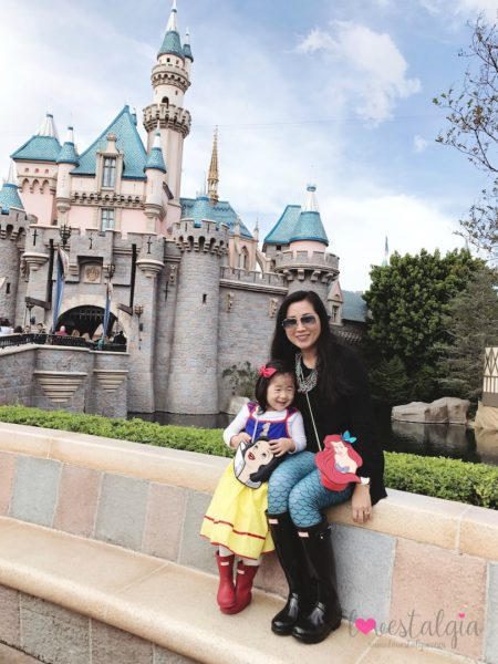 mommy and me at Disneyland