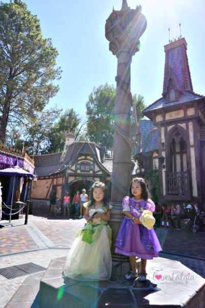 Rapunzel's Tower Fantasy Faire Disneyland best place to take pictures Instagram