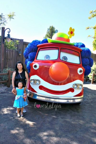 Disney California Adventures Haul-o-ween Halloween Red the firetruck clown costume Cars Land