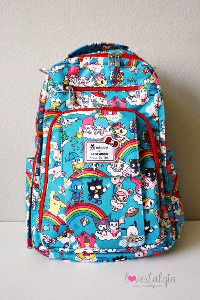JuJuBe Rainbow Dreams Tokidoki Sanrio Hello Kitty Be Right Back BRB Diaper Bag
