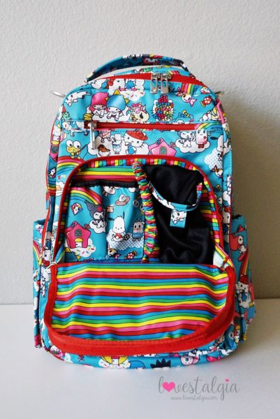 JuJuBe Rainbow Dreams Tokidoki Sanrio Hello Kitty Be Right Back BRB Diaper Bag Mommy Pocket