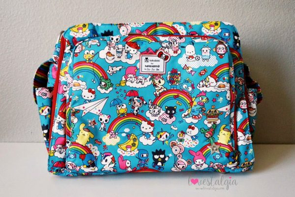 JuJuBe Rainbow Dreams Tokidoki Sanrio Hello Kitty Diaper Bag Be Prepared