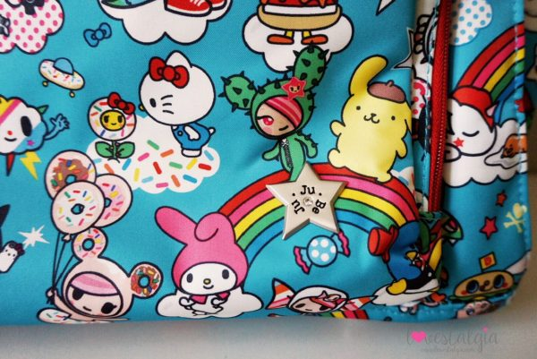 JuJuBe Rainbow Dreams Tokidoki Sanrio Hello Kitty Diaper Bag Be Prepared star