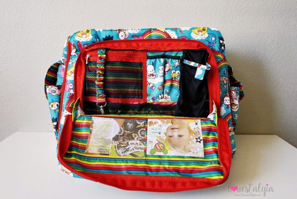 JuJuBe Rainbow Dreams Tokidoki Sanrio Hello Kitty Diaper Bag Be Prepared Mommy Pocket