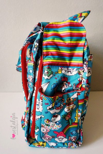 JuJuBe Rainbow Dreams Tokidoki Sanrio Hello Kitty Diaper Bag Be Prepared Bottle Pocket