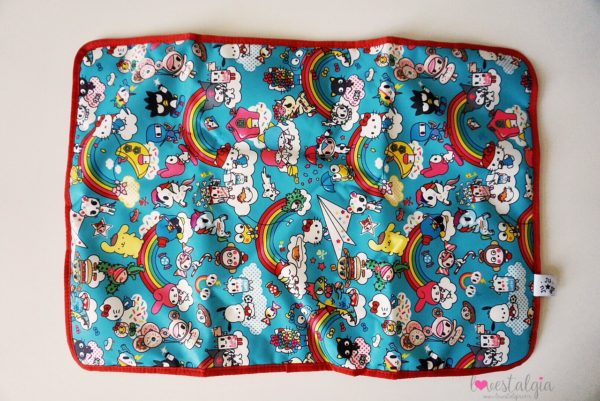 JuJuBe Rainbow Dreams Tokidoki Sanrio Hello Kitty Diaper Bag Be Prepared Change Pad