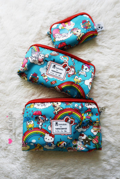 JuJuBe Rainbow Dreams Tokidoki Sanrio Hello Kitty Diaper Bags BeSet