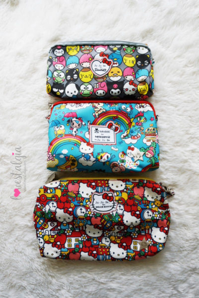 JuJuBe Rainbow Dreams Tokidoki Sanrio Hello Kitty Diaper Bags BeSet Tick Tock Be Quick Hello Friends
