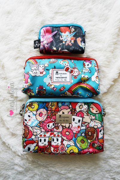 JuJuBe Rainbow Dreams Tokidoki Sanrio Hello Kitty Diaper Bags BeSet TokiPops World of Warcraft Cute But Deadly