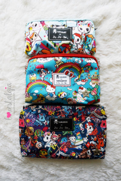 JuJuBe Rainbow Dreams Tokidoki Sanrio Hello Kitty Diaper Bags BeSet Unikiki 2.0 Sea Punk