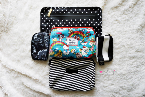 JuJuBe Rainbow Dreams Tokidoki Sanrio Hello Kitty Diaper Bags BeSet Duchess Black Petals First Lady Black Magic