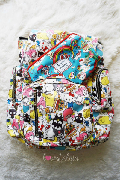 JuJuBe Rainbow Dreams Tokidoki Sanrio Hello Kitty Diaper Bags Kristin's Cut Up Shop Hello Sanrio BeSet Be Sporty