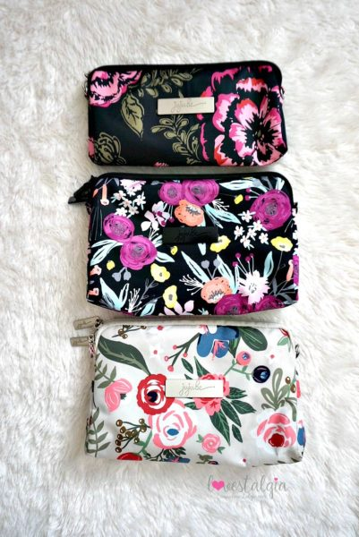 Jujube black and bloom gingham style print comparison floral diaper bag rosy posy blooming romance