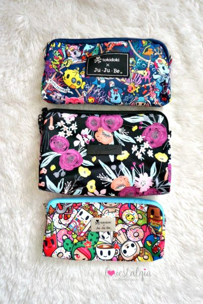 Jujube black and bloom print comparison floral diaper bag sea punk toki pops tokidoki