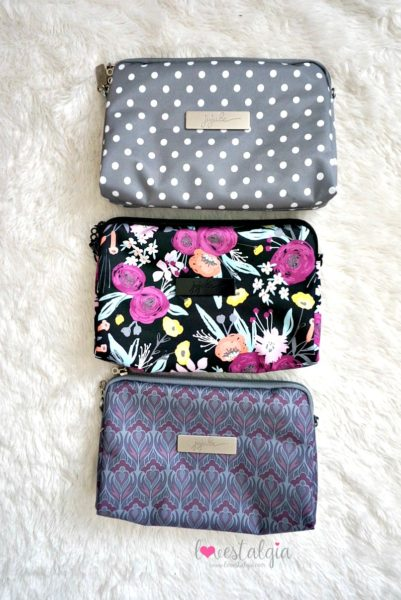 Jujube black and bloom gingham style print comparison floral diaper bag dot dot dot amethyst ice
