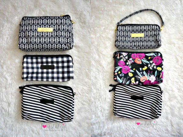 Jujube black and bloom gingham style print comparison floral diaper bag royal garden black magic