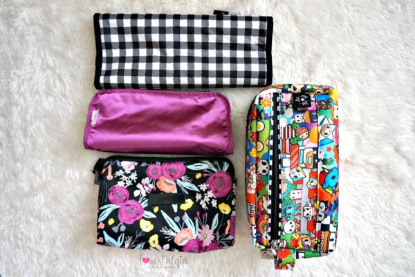 Jujube black and bloom gingham style print comparison floral diaper bag sushi cars be dapper