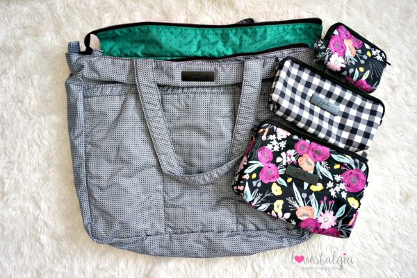 Jujube black and bloom gingham style print comparison floral diaper bag black matrix super be