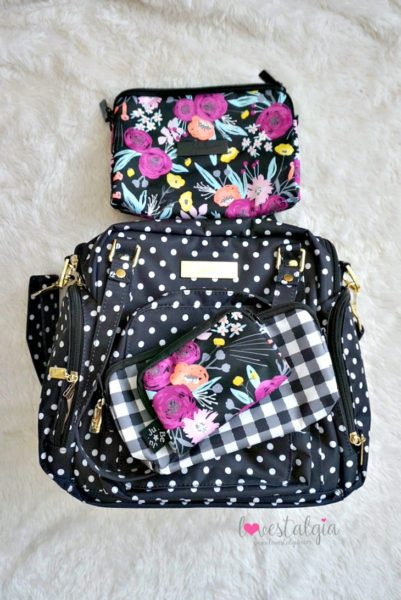 Jujube black and bloom gingham style print comparison floral diaper bag duchess be supplied