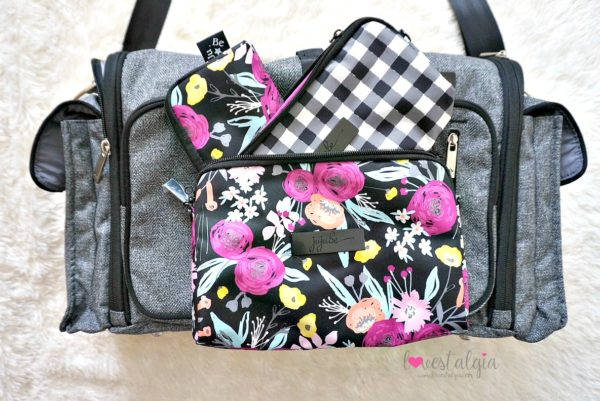 Jujube black and bloom gingham style print comparison floral diaper bag xy collection clone gray matter