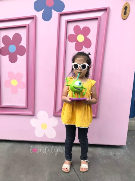 Disney California Adventures, Pixar Fest, Mike Wazowski Pixar Fest Cup, Monsters Inc, we are sons and daughters sunglasses, freshly picked sandals