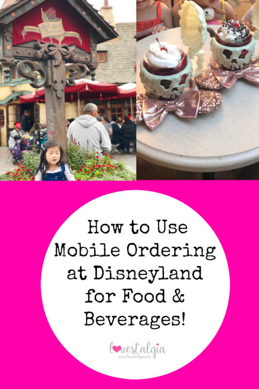 mobile ordering at disneyland, red rose tavern, disneyland preschoolers, disney kids, disney hacks, disney tips