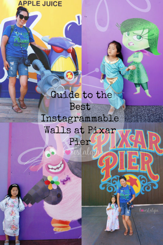 pixar pier, disneyland, disney california adventure, pixar fest, instagrammable photo op, instagram walls, pictures, buzz lightyear, poultry palace, emperor zurg, inside out,