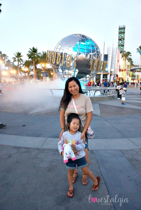 universal studios hollywood mommy and daughter, summer fun