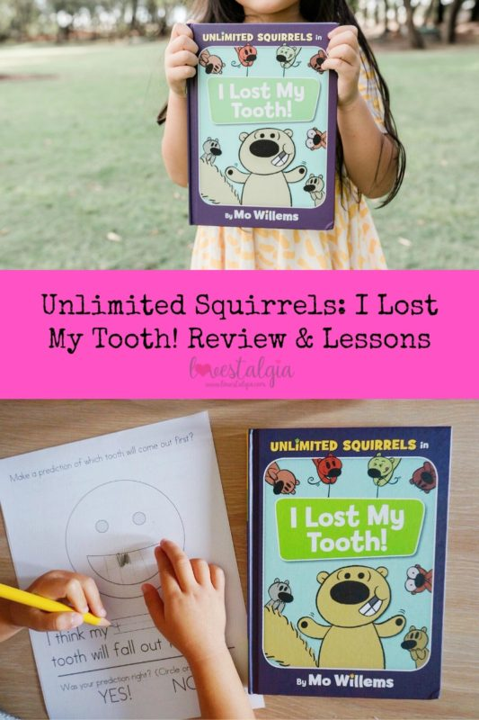 unlimited squirrels, I lost a tooth, mo willems, tooth fairy, books, homeschooling, kindergarten books, i lost my tooth