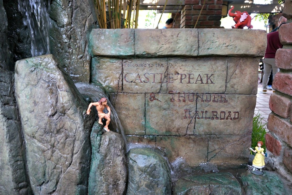 castle peak and thunder railroad, architect, david sheegog, disneyland replica, disneyland castle, disney, anaheim, disney, mickey mouse, disneyland railroad, haunted mansion, disney fan, tarzan
