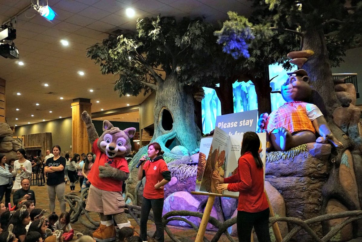 great wolf lodge, spring a palooza, family vacation, family of three, travel tips with kids, family of three, northwood's tea party, springtime activities, story time